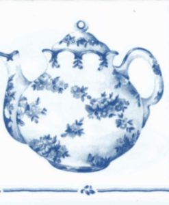 Dekorszalvéta tea for two white blue