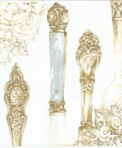 Cutlery white gold