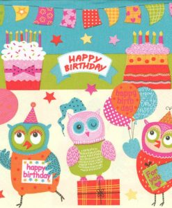 Dekorszalvéta Happy Owls Birthday Party